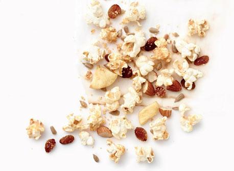 Parmesan Popcorn Snack Mix Recipe