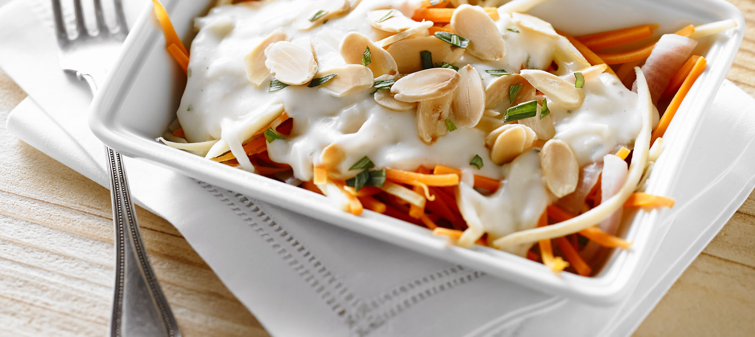 Parsnip And Carrot In Mozzarella Cheese Sauce Recipe Dairy Goodness Cheezy Mozarella