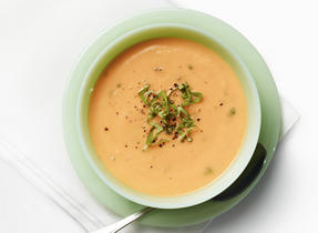 Parsnip & Carrot Soup with Basil