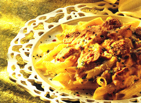 Pasta with Italian Sausage and Cheese Sauce Recipe
