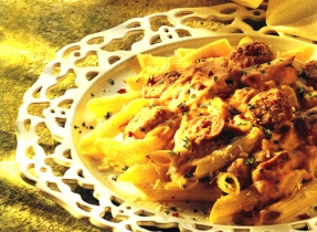 Pasta with Italian Sausage and Cheese Sauce