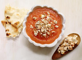 Peach chutney with Feta