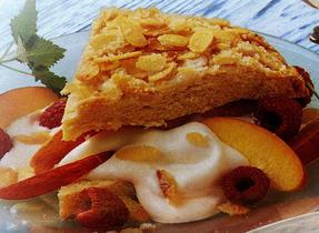 Peach Melba Shortcake