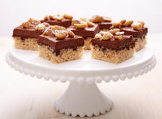 Peanutty chocolate Cottage Cheese squares