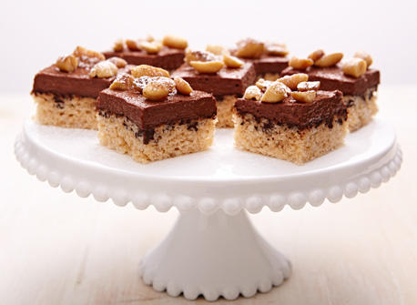 Peanutty chocolate Cottage Cheese squares Recipe