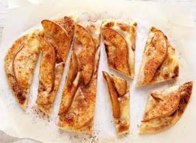 Pear and Cheese Naan Pies