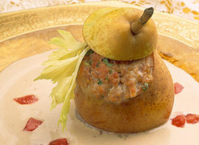 Pears Stuffed with Ground Pork