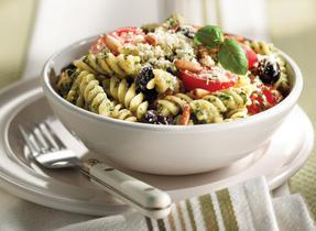 Pesto and Fresh Tomato Fusilli