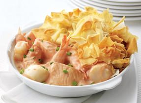 Phyllo-Topped Seafood Pie