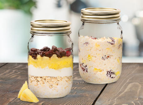 Pineapple Tropical Delight Overnight Oats Recipe