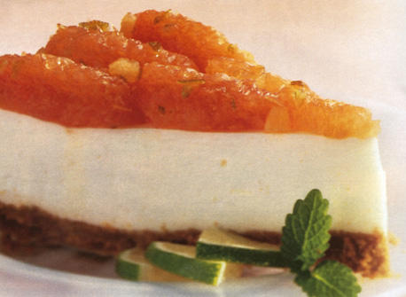 Pink Grapefruit Cheesecake Recipe