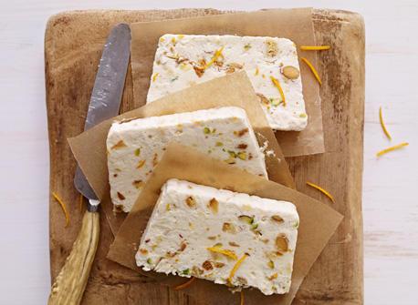 Pistachio and Biscotti Semifreddo with Mascarpone Recipe