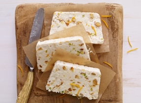 Pistachio and Biscotti Semifreddo with Mascarpone