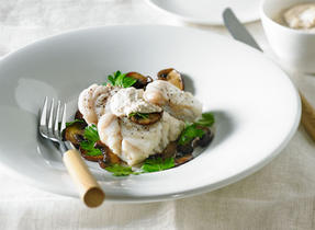 Poached Monkfish with Walnut Sauce