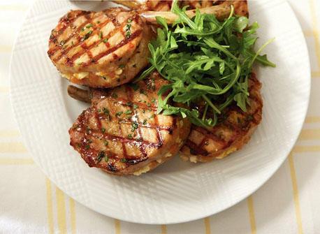 Pork, peach and Feta papillote Recipe