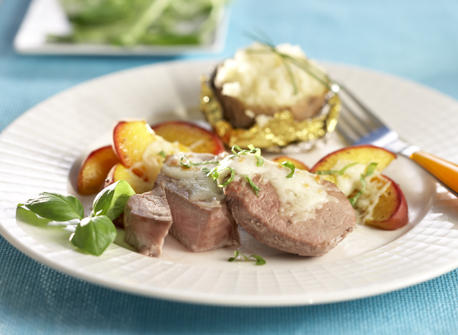 pork tenderloin with grilled peaches pork tenderloin with peach mint ...