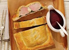 Pork Wellington with Louis D'Or Cheese and Beet Sauce