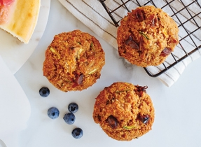 Power-Packed Carrot, Zucchini & Date Muffins
