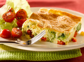 Puffy Broccoli and Red Pepper Frittata