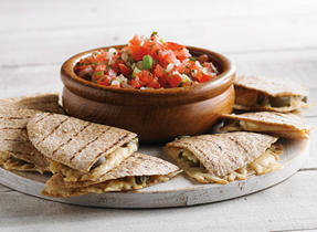 Quesadillas with Smoked Cheddar and Pico de Gallo
