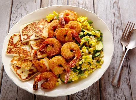 Queso Fresco, shrimp & corn Recipe