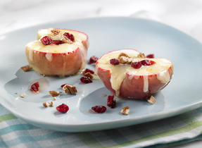 Quick Cheddar Baked Apples