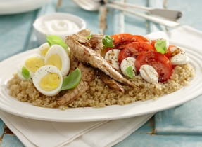 Quick Quinoa and Mackerel Salad