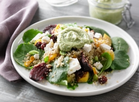 Quinoa, Roasted Beet and Dried Fruit Salad