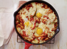 Ranchero Eggs with Brick Cheese