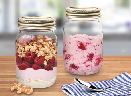 Raspberry and Ricotta Breakfast Parfaits Recipe