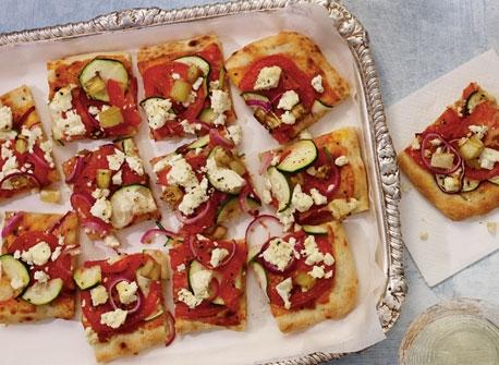 Ratatouille and Feta Pizza Recipe