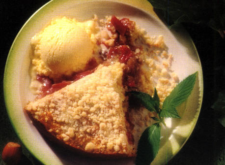 Rhubarb and Nut Streusel Cake Recipe