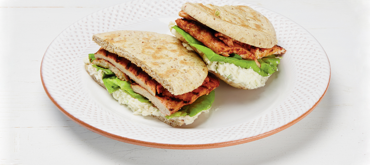 ricotta and grilled tandoori chicken sandwich - Recipe of the day * 1st june 2013 *