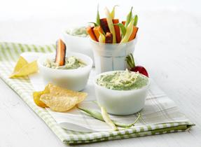 Ricotta, avocado and basil dip