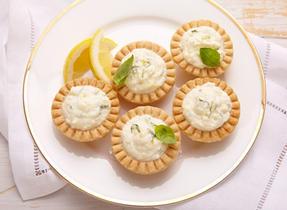 Ricotta lemon-basil tarts