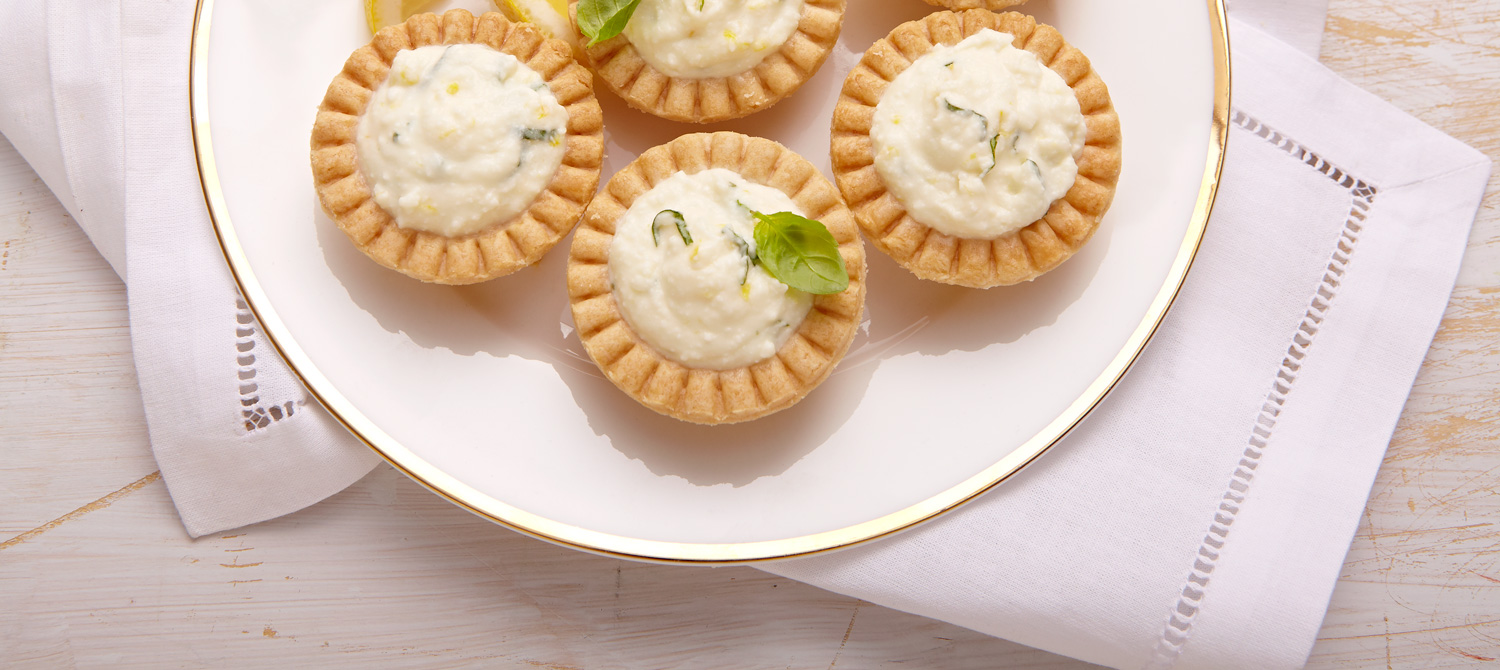Ricotta lemon-basil tarts recipe | Dairy Goodness