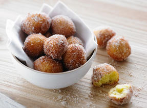 Ricotta, Lime and Cinnamon Sugar Doughnuts