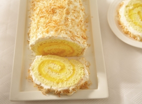 Ricotta, Mango and Coconut Christmas Log