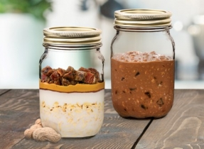 Rise and Shine Chocolate Peanut Butter Overnight Oats