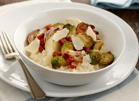 Roast Brussels Sprout Risotto Recipe