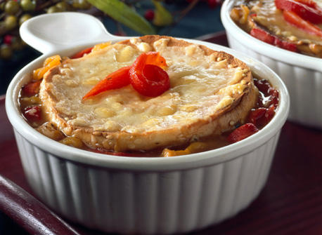 Roasted Bell Pepper Soup with Canadian Swiss Cheese Recipe