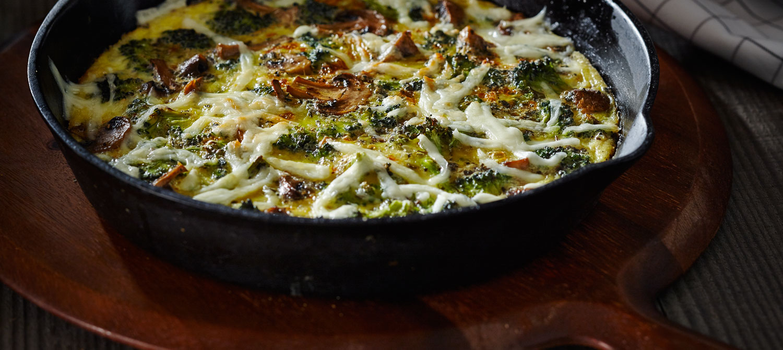 Broccoli Mushroom Frittatas