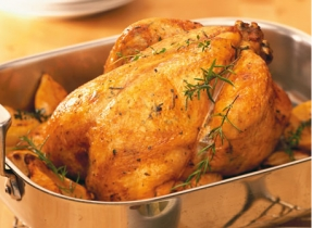 Roasted Butter Herb Chicken