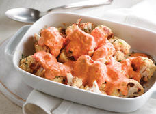 Roasted Cauliflower with Red Pepper Cream