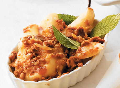 Roasted Pear and Ginger Crumble Recipe