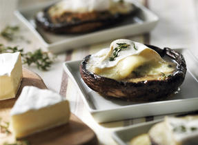 Roasted Portobello Mushrooms with Melted Canadian Brie