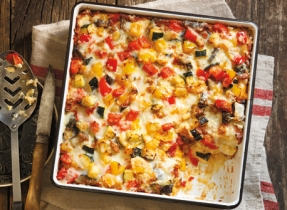 Roasted Ratatouille Strata