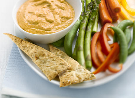 Roasted Red Bell Pepper and Basil Dip Recipe