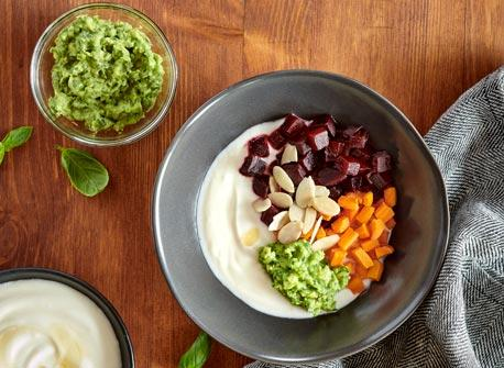 Roasted Root Vegetable Yogurt Bowl Recipe