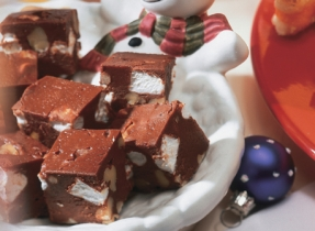 Rocky Road Cream Cheese Fudge